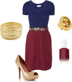 """navy and maroon"" by lildill26 on Polyvore"