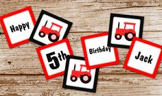 Red Tractor Birthday Banner    personalized by CelebrateLilThings, $10.00
