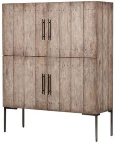 Shop Zin Home's modern, contemporary & solid wood armoire, wardrobes and bedroom closet cabinets on sale. Storage Cabinets, Storage Shelves, Storage Units, Mid Century Bar Cabinet, Wardrobe Cabinets, Trendy Home Decor, High Fashion Home, Furniture Design, Gray Furniture
