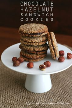 Chocolate Hazelnut Sandwich Cookies - my healthy low carb and grain free take on Trader Joe's! So good, if you love chocolate and hazelnut together, you will love these.
