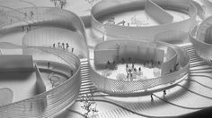 BIG Selected to Design Human Body Museum in France is part of architecture - Designed by BIG in Montpellier,France BIG has been announced as the winner of an international design competition for the new Cité du Corps Humain (Museum Montpellier, Win Competitions, Design Competitions, Landscape Model, Landscape Design, Concept Architecture, Architecture Design, Architecture Models, Computer Architecture