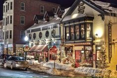Christmas is just around the corner and we're on the search for the best magical towns in Maine. These places are a great place to start! Vacation Places, Vacation Destinations, Dream Vacations, Places To Travel, Places To Go, Christmas Destinations, Girls Vacation, Vacation Spots, Maine New England