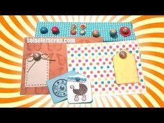 Como hacer embellecedores / brads decorados con pintauñas- Scrapbooking - DIY - YouTube