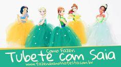 Vamos aprender a fazer a famosa Saia de Tubete com tule. Sem enrolação, com um segredinho que deixa o personalizado perfeito ;D Moldes ( Frozen + Princesas D...