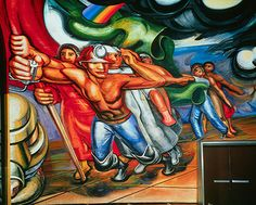 David Alfaro Siqueiros For the Complete Safety of All Mexicans at Work (detail), 1952–4, mural, Hospital de la Raza, Mexico City. Image courtesy Frieze Magazine.