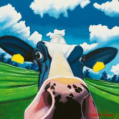 Google Image Result for http://imgc.allpostersimages.com/images/P-473-488-90/51/5137/RWNEG00Z/posters/eoin-o-connor-cow-ii-nosey-cow.jpg