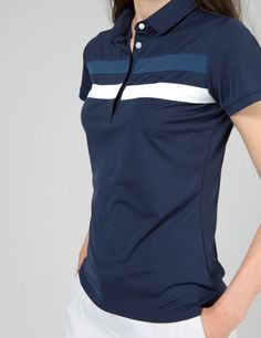 Polo Shirt Women, Polo T Shirts, Golf Shirts, Sports Shirts, Camisa Polo, Polo Shirt Design, Fashion Design Template, Tennis Clothes, Casual Fall Outfits