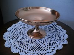 $10 Starting Bid: Vintage Copper Compote Dish