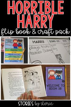 Students love reading Horrible Harry books! These flip books and classroom door craft booklets can be used with any book in the Horrible Harry series. They are great to use with your book clubs, reading groups, or even for independent reading time to monitor comprehension.
