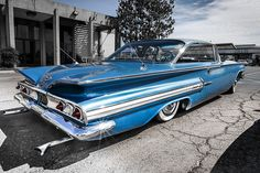 Blue 1960 Chevy Impala by Noah M, via Flickr