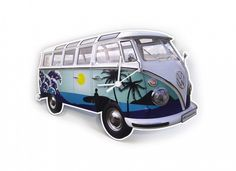 BRISA VW Collection VW T1 Bus Printed Napkins Parade