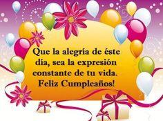 Imágenes Con Frases De Feliz Cumpleaños Para Una persona Alegre Happy Birthday Wishes, Birthday Cards, Templates, Party, Gifs, Cristiano, Spanish, Baby Shower, Friends