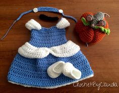 Crochet Newborn Cinderella Inspired Dress and by CrochetByClaudia