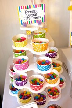 Teenage Dream jellybeans at a Katy Perry birthday party! See more party planning ideas at CatchMyParty.com!