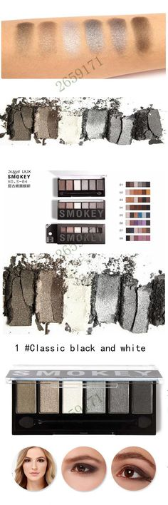 6 colors Eye shadow Smoke makeup  Earth color Shimmer eyeshadow pallete #1