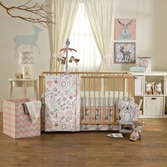 Sparrow Quilted Crib Comforter