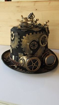 Steampunk factory gears di tikystore su Etsy - ALL ABOUT Steampunk Cosplay, Viktorianischer Steampunk, Steampunk Crafts, Steampunk Design, Steampunk Wedding, Steampunk Clothing, Steampunk Fashion, Gothic Fashion, Steampunk Necklace