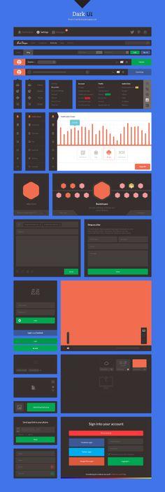 Dark UI - Free UI Kit