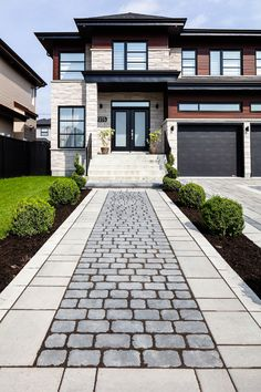 Driveway inspiration for contemporary and modern homes.  Creative front yard ideas and landscape design.