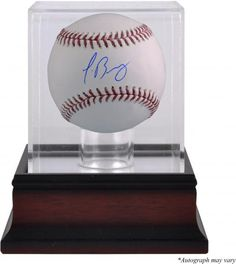 Jose Abreu Chicago White Sox Autographed Baseball and Mahogany Baseball Display Case - Fanatics Authentic Certified. The display case features a clear acrylic removable lid with an antique mahogany finished base. Chicago White Sox, Boston Red Sox, Bobby Richardson, Kirk Gibson, Paul Goldschmidt, Eric Hosmer, Baseball Display, Reggie Jackson, Bo Jackson