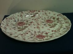 Large Oval Hand Engraved Johnson Bros Rose by MaxinesOldToNew, $50.00