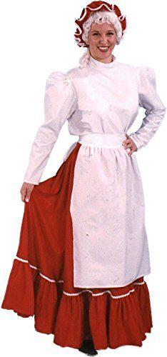 White Victorian Ruffles Lace Cotton Bib Apron Maid Smock