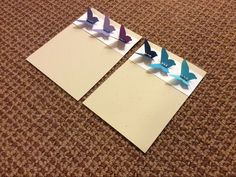 Pretty 3 shades of butterfly card.