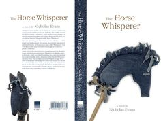 The Horse Wishperer - Handmade paperback cover design, student brief by Lua Cortes, via Behance - horse, stick horse, hobby horse, book, book cover, book jacket, stuffed animal