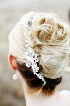 The most perfect bridal hairstyle with the bridal dress