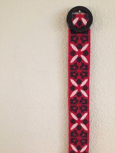 Vintage Ribbon Belt, Vintage Belt, Red and Black Belt, Boho Retro, Vintage Accessory by CHICaDees on Etsy