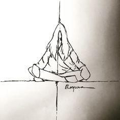 Momentos d meditación. Ilustraciones propias.