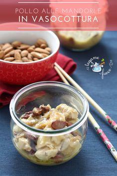 Il pollo alle mandorle in vasocottura, un grande classico della cucina cinese, rivisitato in chiave moderna e veloce. Cotto al microonde, grazie al vapore e al sottovuoto, scoprirete una ricetta che vi stupirà, in soli 6 minuti!
