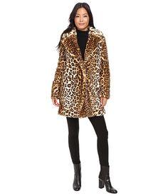 Calvin Klein Faux Fur with Button Closure Leopard - 6pm.com