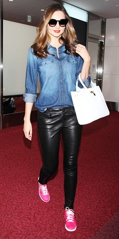 Celebrity Trend: Chic Sneakers - Miranda Kerr from #InStyle