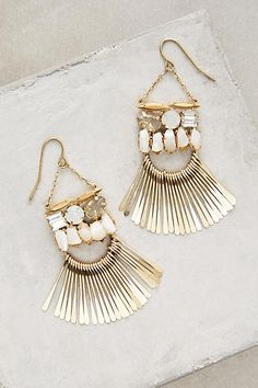 Anthropologie Meteor Shower Chandelier Earrings