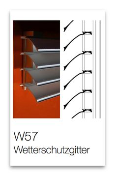 Wetterschutzgitter W57 Aluminium, Bookcase, Shelves, Home Decor, Lattices, Products, Shelving, Decoration Home, Room Decor