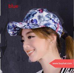 Sweet floral baseball cap for women adjustable design spring wear