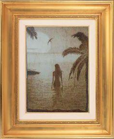 Hobbies-land: tegole artistiche, pirografie e altro: Donne al mare