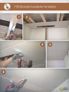 Brandschutz ist im Trockenbau ein großes Thema. Die Anleitung zeigt, wie sich ohne viel Aufhebens eine F90-Brandschutzdecke herstellen lässt.