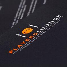 Printgestaltung der Players Lounge.