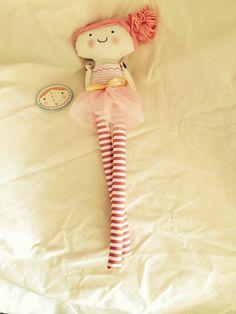 Ballet ballerina handmade doll fabric doll muñeca de trapo hecha a mano