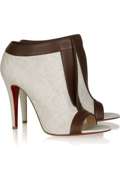 Chaotic 100 Leather-Trimmed Canvas Ankle Boots by Christian Louboutin - $865 Every single day time outfit.