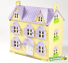 Berrybee Cottage Wooden Dolls House With Curtains