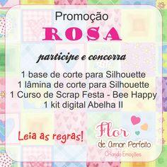 Flor de Amor Perfeito: Promoção ROSA...participe e concorra!