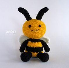 Amigurumi Abeille hochet, Crochet Jouet Abeille,, bumble Bee, Crochet bébé Jouet, doux Jouet, en peluche Jouet, mauviette, Crochet Animal(China)