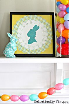 DIY Bunny Silhouette www.eclecticallyvintage.com #12monthsofmartha