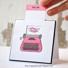 Created by SugarGem: Clean and Simple Class Homework Interactive card  so cute!