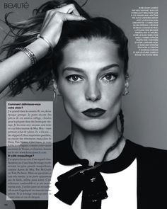visual optimism; fashion editorials, shows, campaigns & more!: daria werbowy by nico for marie claire france november 2013
