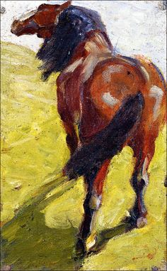 Franz Marc - Study of a Horse, 1908-09