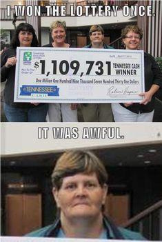 Grumpy lottery winner